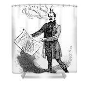 Prince Otto Von Bismarck  Shower Curtain