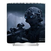 Special Operations Forces Soldier Shower Curtain by Tom Weber