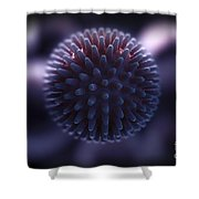 Swine Influenza Virus H1n1 Shower Curtain