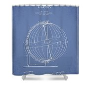 Terrestro Sidereal Globe Patent Drawing From 1886 Shower Curtain