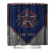 Texas Rangers Shower Curtain