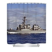 The Guided-missile Destroyer Uss Shower Curtain