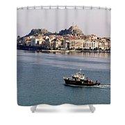 Views From Corfu Greece Shower Curtain