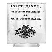 Voltaire Candide Shower Curtain