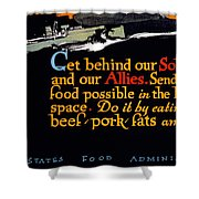 Wwi Food Supply, 1917 Shower Curtain