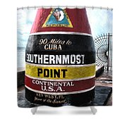 90 Miles To Cuba Shower Curtain