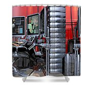 911 Console Station Shower Curtain