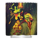 911 Fruit Shower Curtain