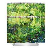 911-sherborne Lake Shower Curtain