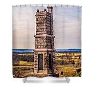 91st Pennsylvania Infantry Monument Shower Curtain