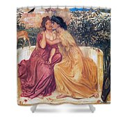 Sappho And Erinna In A Garden Shower Curtain