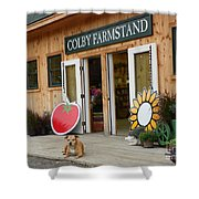 #923 D720 Colby Farm Stand Shower Curtain