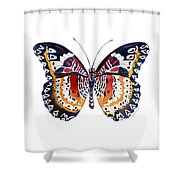 94 Lacewing Butterfly Shower Curtain by Amy Kirkpatrick