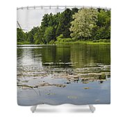 Pond With Trees  Shower Curtain
