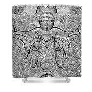 989 - Giant Creature Fractal ... Shower Curtain