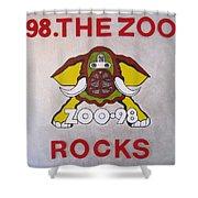 98.the Zoo Rocks Shower Curtain