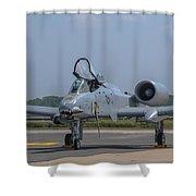 A-10 Thunderbolt Warthog Shower Curtain