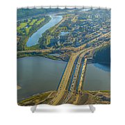 Fort Mcmurray From The Sky Shower Curtain