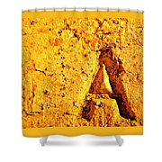 A As In Alphabet  Shower Curtain