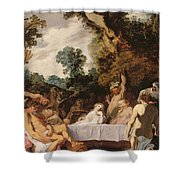 A Bacchanalian Feast, C.1617 Shower Curtain