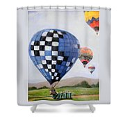 A Balloon Disaster Shower Curtain