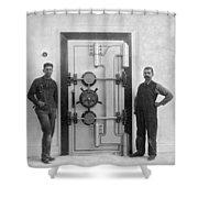 A Bank Vault Door Shower Curtain