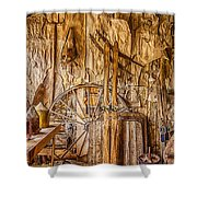 A Bannack General Store Shower Curtain