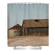 A Barn And A Bin Shower Curtain