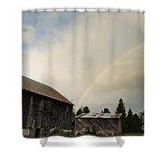 A Barn O'gold Shower Curtain