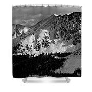 A Basin In Black And White Shower Curtain