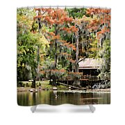 A Bayou Retreat Shower Curtain