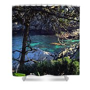 A Beautiful Cove At Point Lobos Shower Curtain
