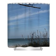 A Beautiful Day At A Florida Beach Shower Curtain
