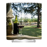 A Beautiful Day In Napa Shower Curtain