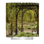 A Beautiful Place To Relax And Reflect Shower Curtain