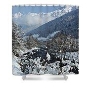 A Beautiful Winterday - Austrian Alps Shower Curtain