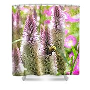 A Bee's Work Is Never Done Abwndwc Shower Curtain