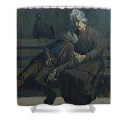 A Bench In Paris, 1960 Shower Curtain