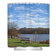 A Bench With A View Shower Curtain
