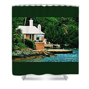 A Cottage In Bermuda # 1 Shower Curtain
