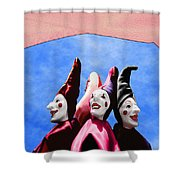 A Bevy Of Jesters Shower Curtain