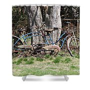 A Bicycle Built For Two Shower Curtain