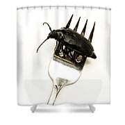 A Bite Of Water Bug Shower Curtain