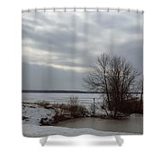 A Bleak Midwinter Day Shower Curtain