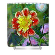 A Blooming Smile  Shower Curtain