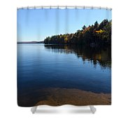 A Blue Autumn Afternoon - Algonquin Lake Tranquility Shower Curtain