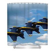 A Blue Streak Shower Curtain