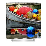 A Boat Full Of Color Shower Curtain