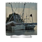 A Boat Named Cyclone Shower Curtain