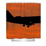 A Bombardier Challenger Cl-600 Private Shower Curtain